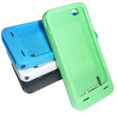 iPhone 4G Silicone Case with Solar Charger
