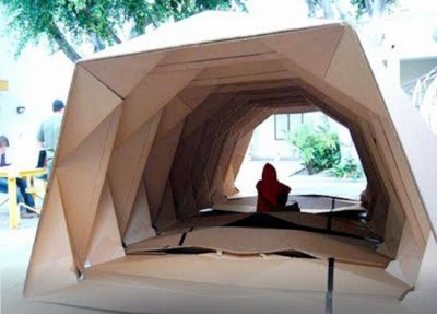 Cardborigami - Cardboard Shelter For Victims Of Calamities