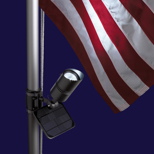 solar powered flag pole lighting envirogadget. Black Bedroom Furniture Sets. Home Design Ideas