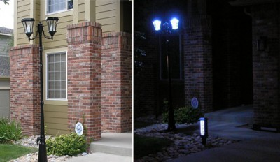 Solar Powered Double Head Lamp Posts