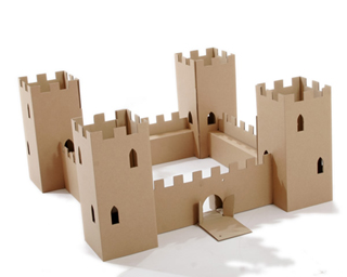 Recycled Cardboard Toy Fort