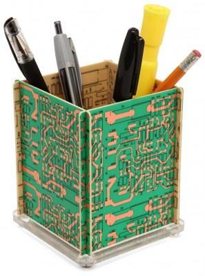 Recycled Motherboard Pencil Holder