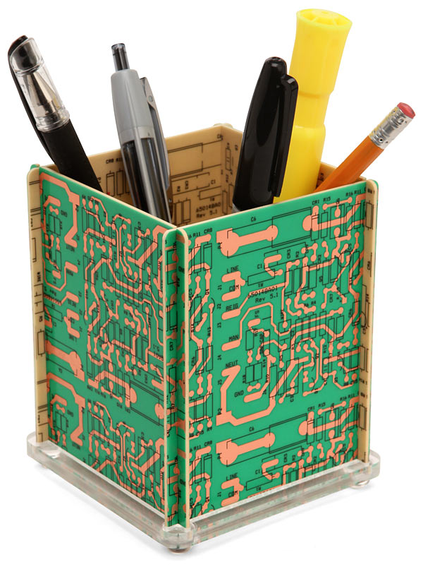 Recycled Circuit Board Pencil Holder | EnviroGadget
