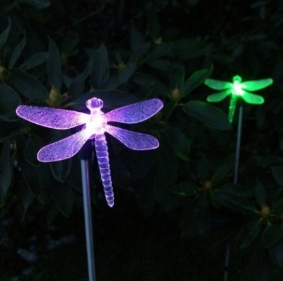 Solar Powered Dragonfly LED Light Stakes