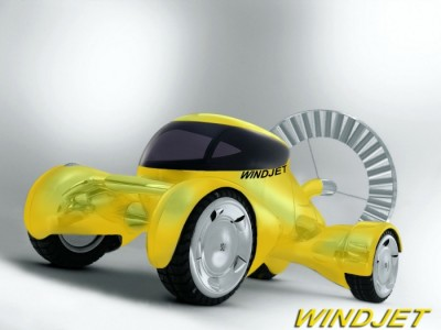 WindJet - Wind Powered Electric Hybrid Vehicle Concept