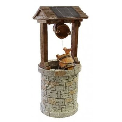 Ambient Solar Powered Wishing Well Water Feature