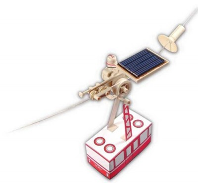 Solar Powered Aerial Cable Car Toy