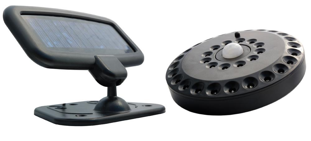 solar powered motion detector pir porch light envirogadget. Black Bedroom Furniture Sets. Home Design Ideas