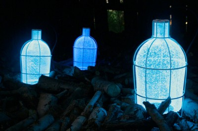 Trap Light - Photoluminescent Glass Lamp