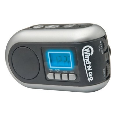 Wind 'N Go Time Minder Alarm Clock Radio