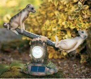 Meerkat Seesaw Ornament and Solar Light