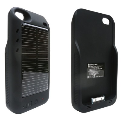 Mooncharge - Solar Charger iPhone 4 Battery Case