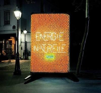 Orange-powered Billboard
