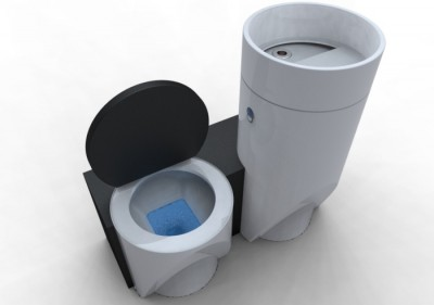 Eco-bathroom - Water Saving Toilet Concept