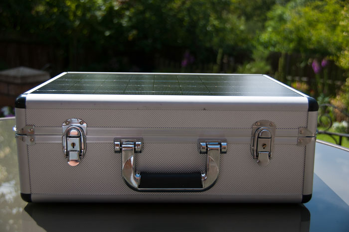 Video And More Solarpod Portable Solar Generator Briefcase