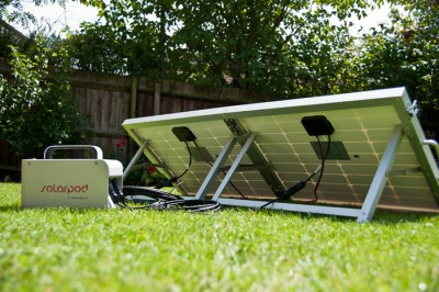 SolarPod Portable Solar Generator Briefcase - Set-up