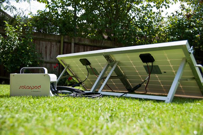 SolarPod Portable Solar Generator Briefcase - Set-up