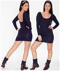 U-Neck Mini dress