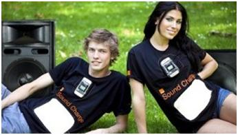 Orange Demonstrates Sound Charge T-Shirts