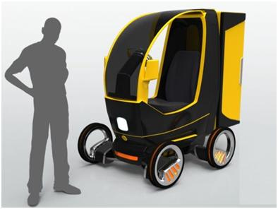 Eco-Friendly Goods Transporting Vehicle Designed